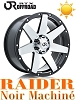 82392 RAIDER  17x8.5   6-135 Noir et Machine