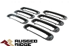 1130630 Rugged Ridge Insertions de grille Noires Wrangler JK 07-18