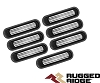 1140130 Rugged Ridge Insertions de grille Aluminium Noirs Wrangler JK 07-18