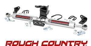 Rough Country 87304 Dual Steering Stabilizer