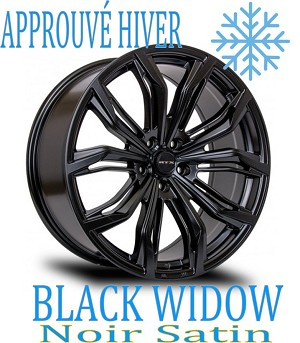 RTX Wheels BLACK WIDOW Noir SATIN