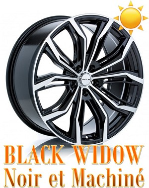 RTX Wheels BLACK WIDOW Noir et Machine