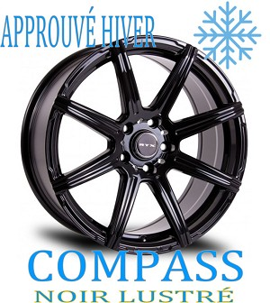 RTX Wheels COMPASS Noir Lustre