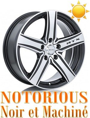 RTX Wheels NOTORIOUS Noir et Machine