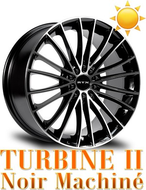RTX Wheels TURBINE II Noir Machine