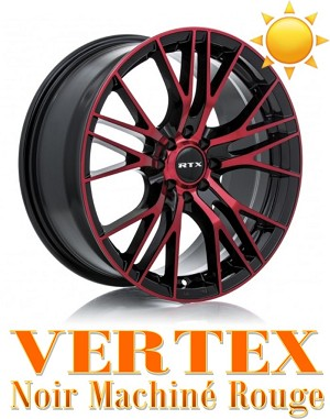 RTX Wheels VERTEX Noir Machine Rouge