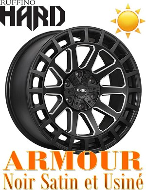 Ruffino HARD Wheels RUF46 ARMOUR Noir Satin Usine