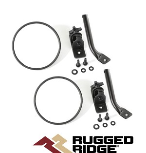 Rugged Ridge 11025.21 Mirroirs Trail Stubby Ronds